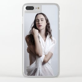 Wrapped in White 2 Clear iPhone Case