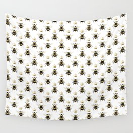 Gold Queen bee / girl power bumble bee pattern Wall Tapestry