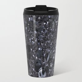Black and Gray Glitter Bomb Travel Mug