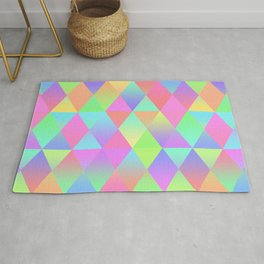 Colorful Geometric Pattern Prism Holographic Foil Triangle Texture Rug