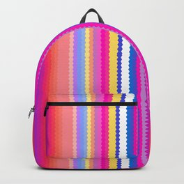Electric Vibrant Stripes Backpack