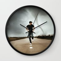 running Wall Clocks featuring Running by Jovana Rikalo