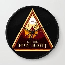 LET THE HUNT BEGIN V2 Wall Clock