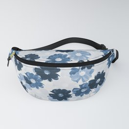Blue Floral Pattern 01 #decor #society6 Fanny Pack