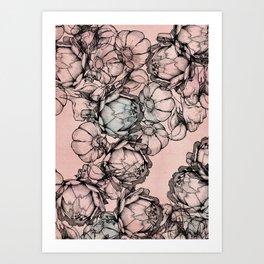 In my garden of Pink Art Print