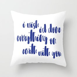 Great Gatsby Quote - Wishes Throw Pillow