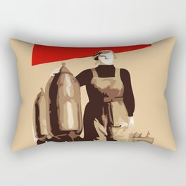 POWER TO THE MASSES  Rectangular Pillow