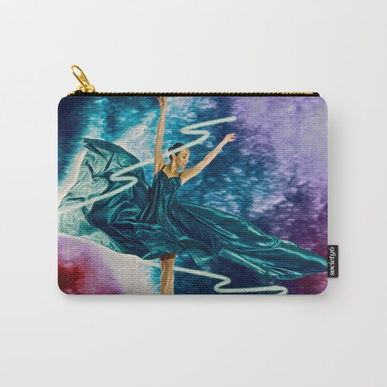 The ballerina amid a neon beam Carry-All Pouch