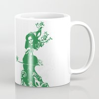 cello Mugs featuring Cello and flowers by Design4u Studio