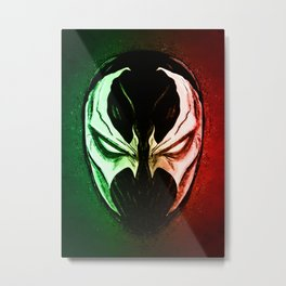 Devil's Mask Metal Print