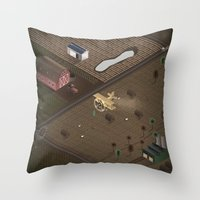 country Throw Pillows featuring Country by Soak