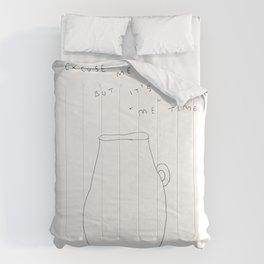 "It's ""Me"" Time - tea cup illustration Comforters"