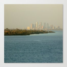 A Cities Coast Line Canvas Print