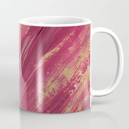 Abstract pink and yellow paint smears Coffee Mug