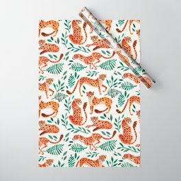 Cheetah Collection – Orange & Green Palette Wrapping Paper