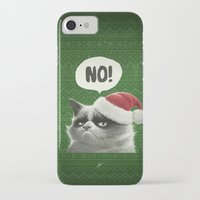 grumpy iPhone & iPod Cases featuring Grumpy Xmas by Dr. Lukas Brezak