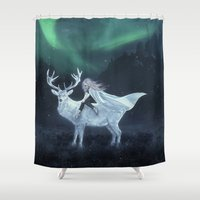 skyrim Shower Curtains featuring Sleepwalker by Liancary