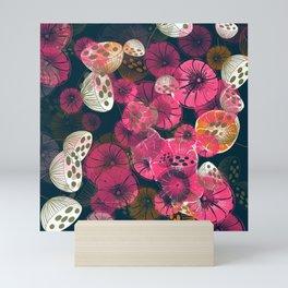 Seed Pods & Indian Hookah Flowers Mini Art Print