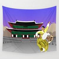 seoul Wall Tapestries featuring Korea's Got Seoul by Tori Kim