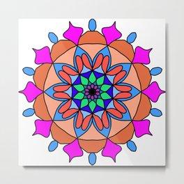 Hand drawing zentangle color Metal Print