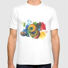 Colorful fish 3 Mens Fitted Tee White MEDIUM