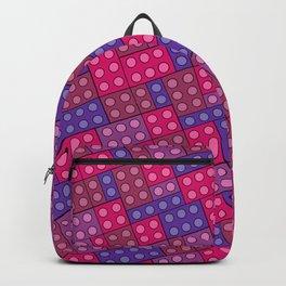 Building Blocks, Pink Purple Bricks Backpack
