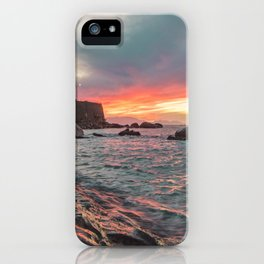 Orographic waves at sunset iPhone Case