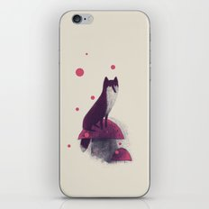 Little Fox and Mushrooms iPhone & iPod Skin