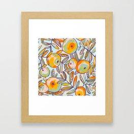 Bright apples Framed Art Print