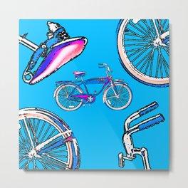 Retro Bike Metal Print