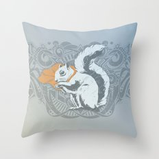 Fearless Creature: Chippy Throw Pillow