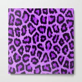 Purple Leopard Print Cheetah Animal Pattern Spot Metal Print