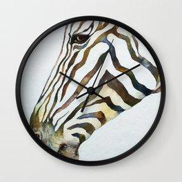 Stripey Zebra Portrait Wall Clock