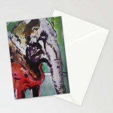 baby elephant & big elephant Stationery Cards