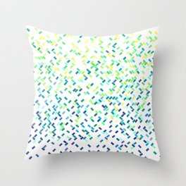 Tropicool Confetti Basket  Throw Pillow