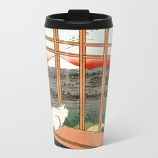 Hiroshige Asakusa Ricefields and Torinomachi Festival Metal Travel Mug