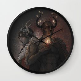 Winter Kings Wall Clock