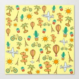 Happy Travel Canvas Print