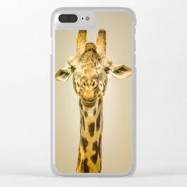 Giraffa's portrait Clear iPhone Case