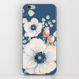 Summer Flowers Blue #society6 #buyart iPhone Skin