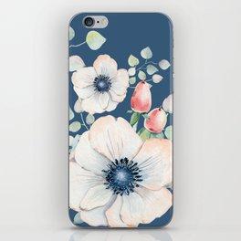 Summer Flowers Blue #society6 #buyart iPhone Skin