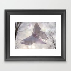 Double Exposure Butterfly Origami Framed Art Print