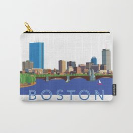 Back Bay Boston Skyline Carry-All Pouch