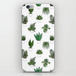 Houseplants Illustration (white background) iPhone Skin