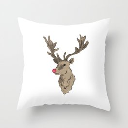 rudolf the rednosed reindeer Throw Pillow