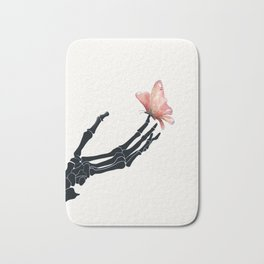 Butterfly on Skeleton Hand Bath Mat