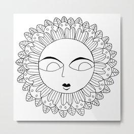Flower Face 2 Metal Print