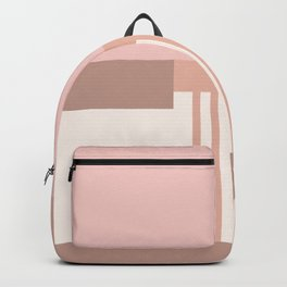 Sol Abstract Geometric Print in Pink Backpack
