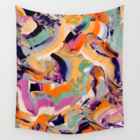 Sara - Abstract Brushstrokes Wall Tapestry