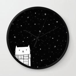 Winter Kitty Wall Clock